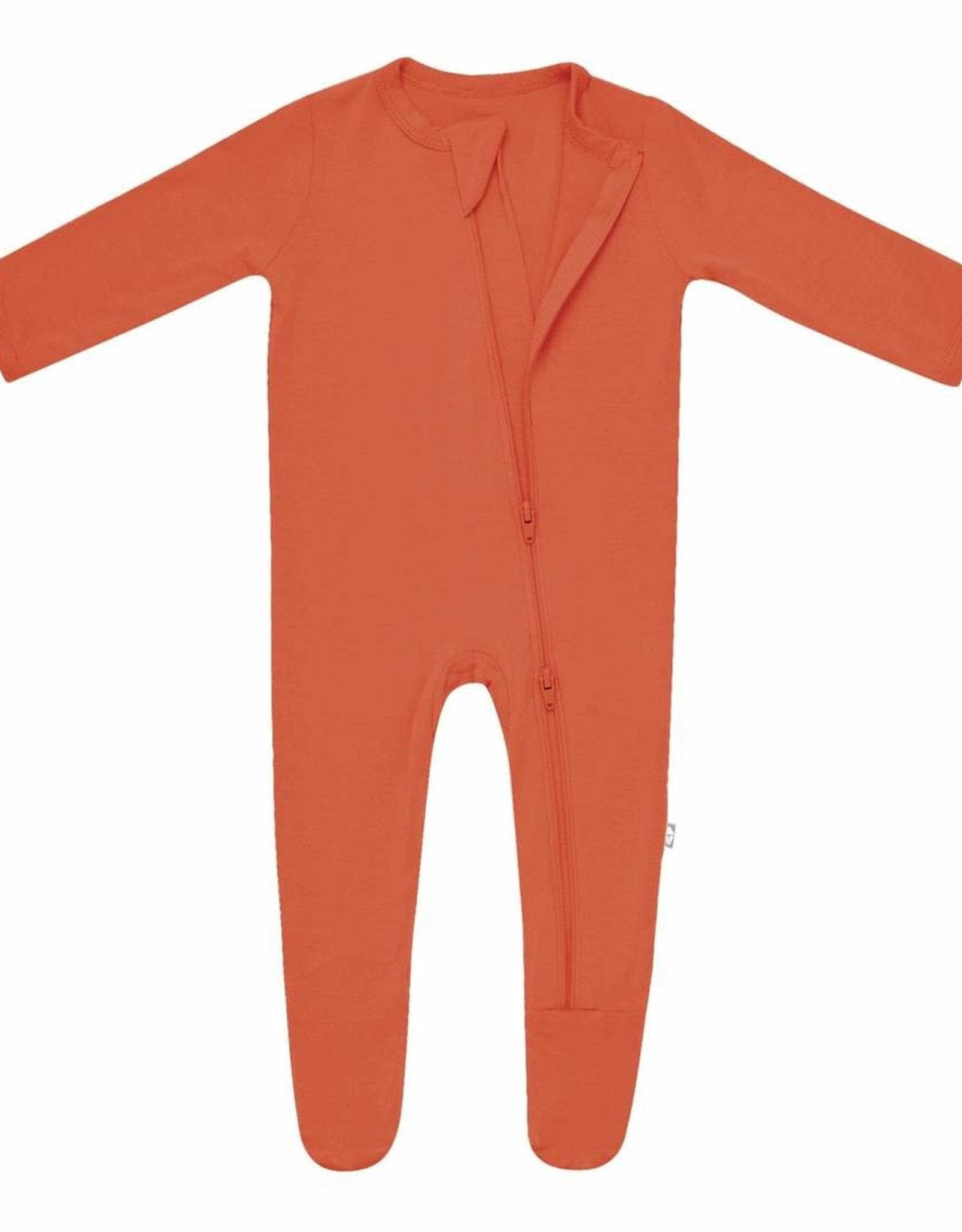 Kyte Baby zippered footie- clementine