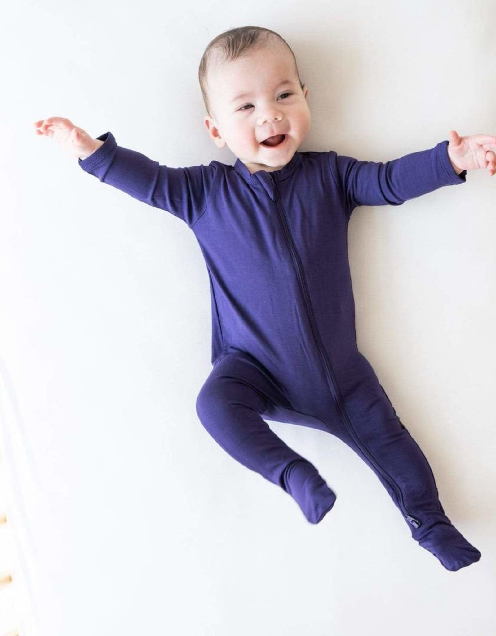 Kyte Baby zippered footie- eggplant