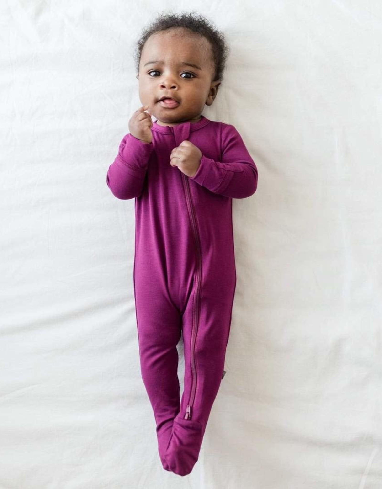 Kyte Baby zippered footie- dahlia