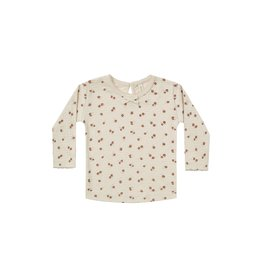 Quincy Mae pointelle ls tee- petite floral