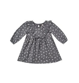 Quincy Mae ls ruffle dress- dark floral