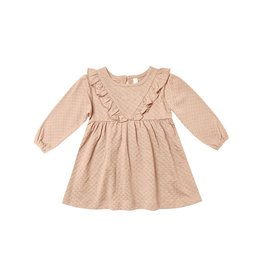 Quincy Mae ls ruffle dress- petal