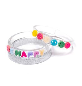 Lilies & Roses be happy bangles set