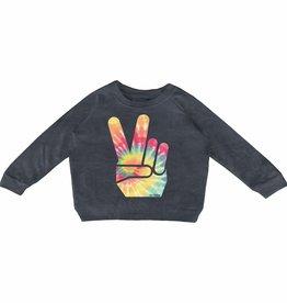 Tiny Whales peace sign sweatshirt