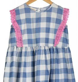 Vierra Rose lilou dress- blue check