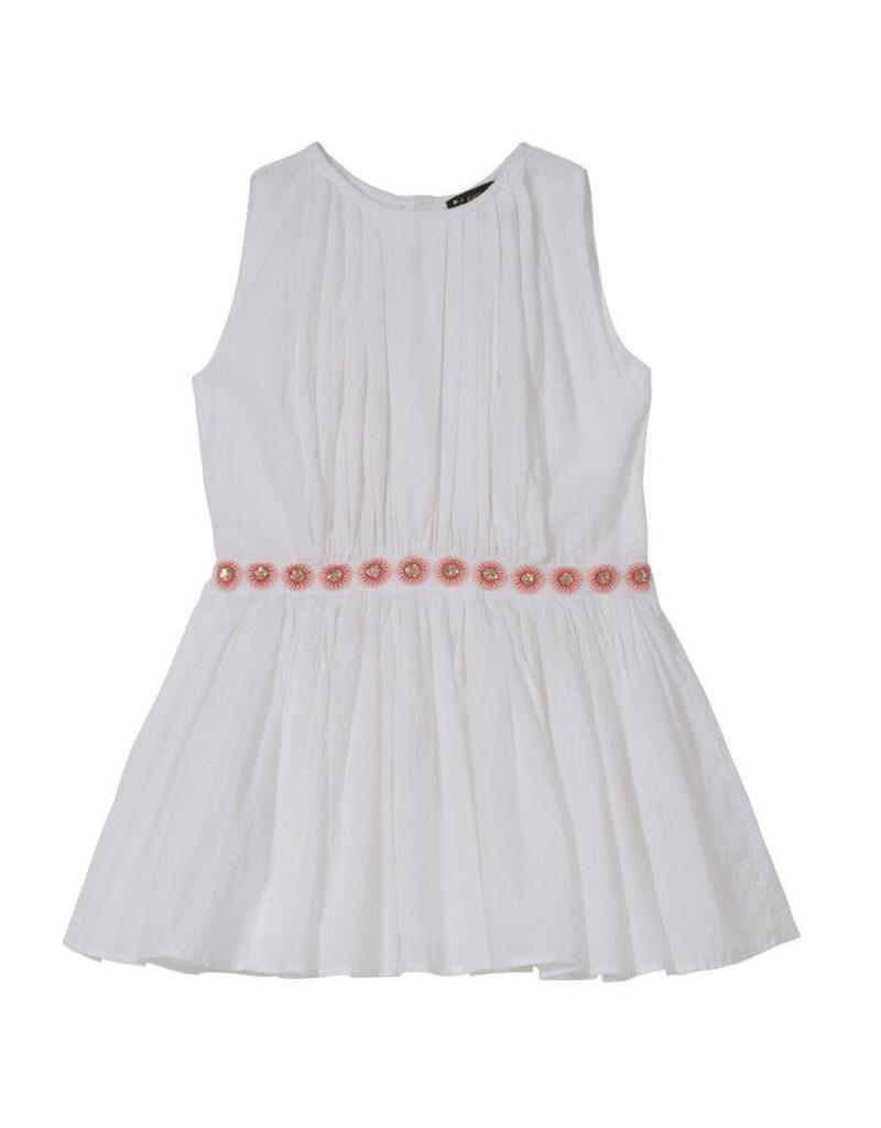 Velveteen anila dress- white
