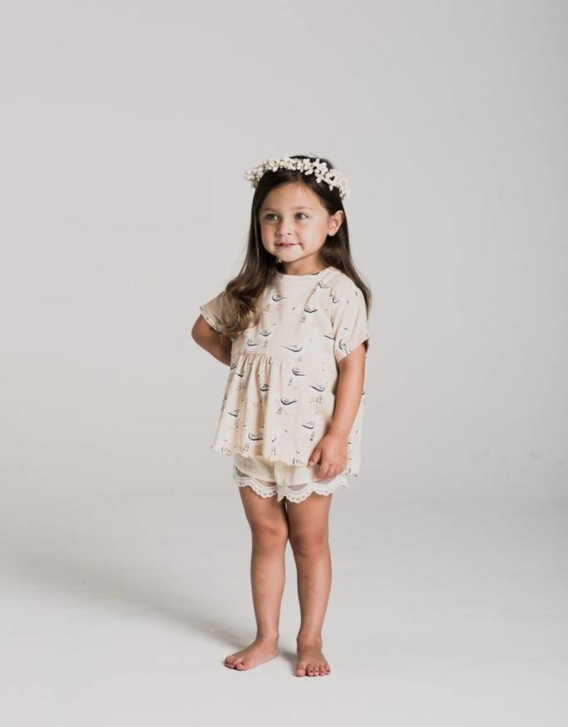 Rylee and Cru scallop shorts- ivory