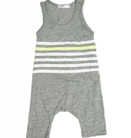 Joah Love finn stripe jumpsuit- grey
