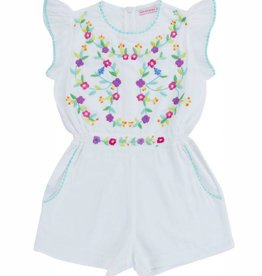 Coco and Ginger magnolia playsuit- white