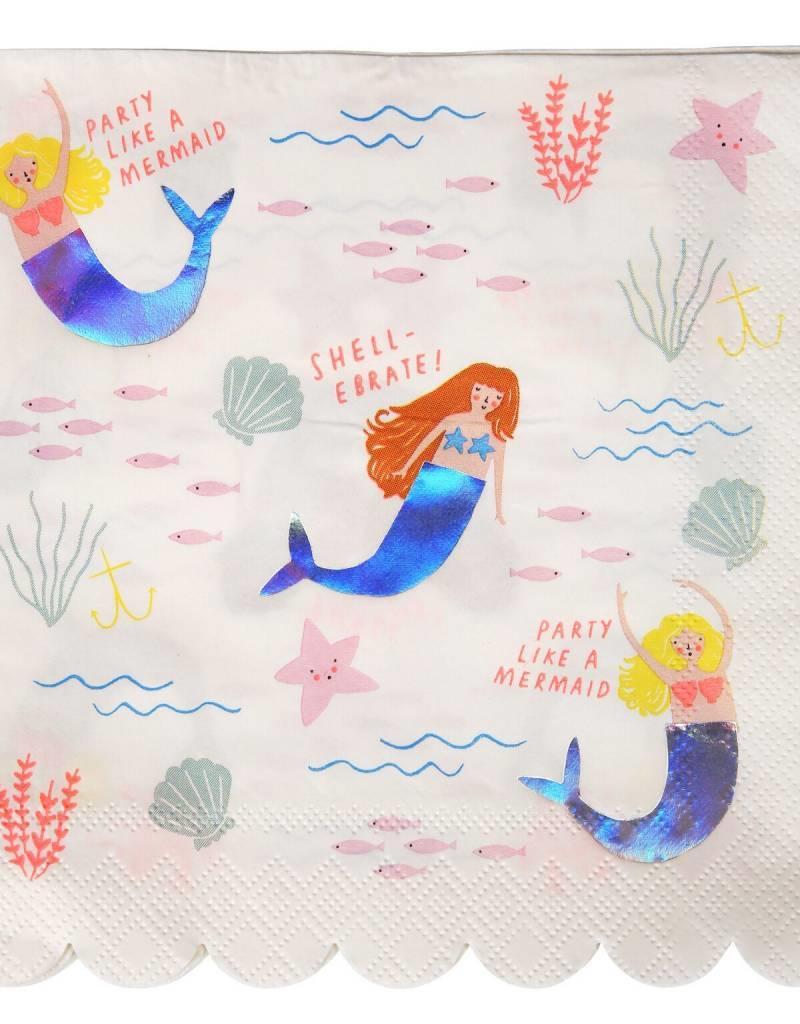 Meri Meri let's be mermaids napkins large
