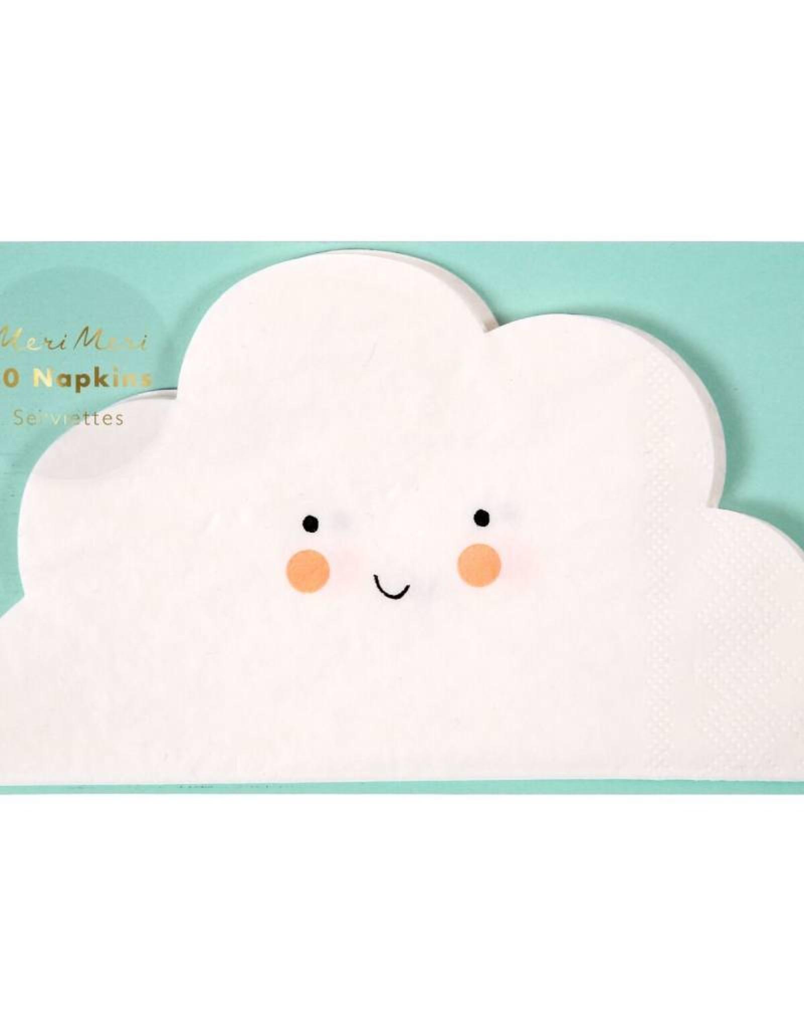 Meri Meri cloud cutout napkins