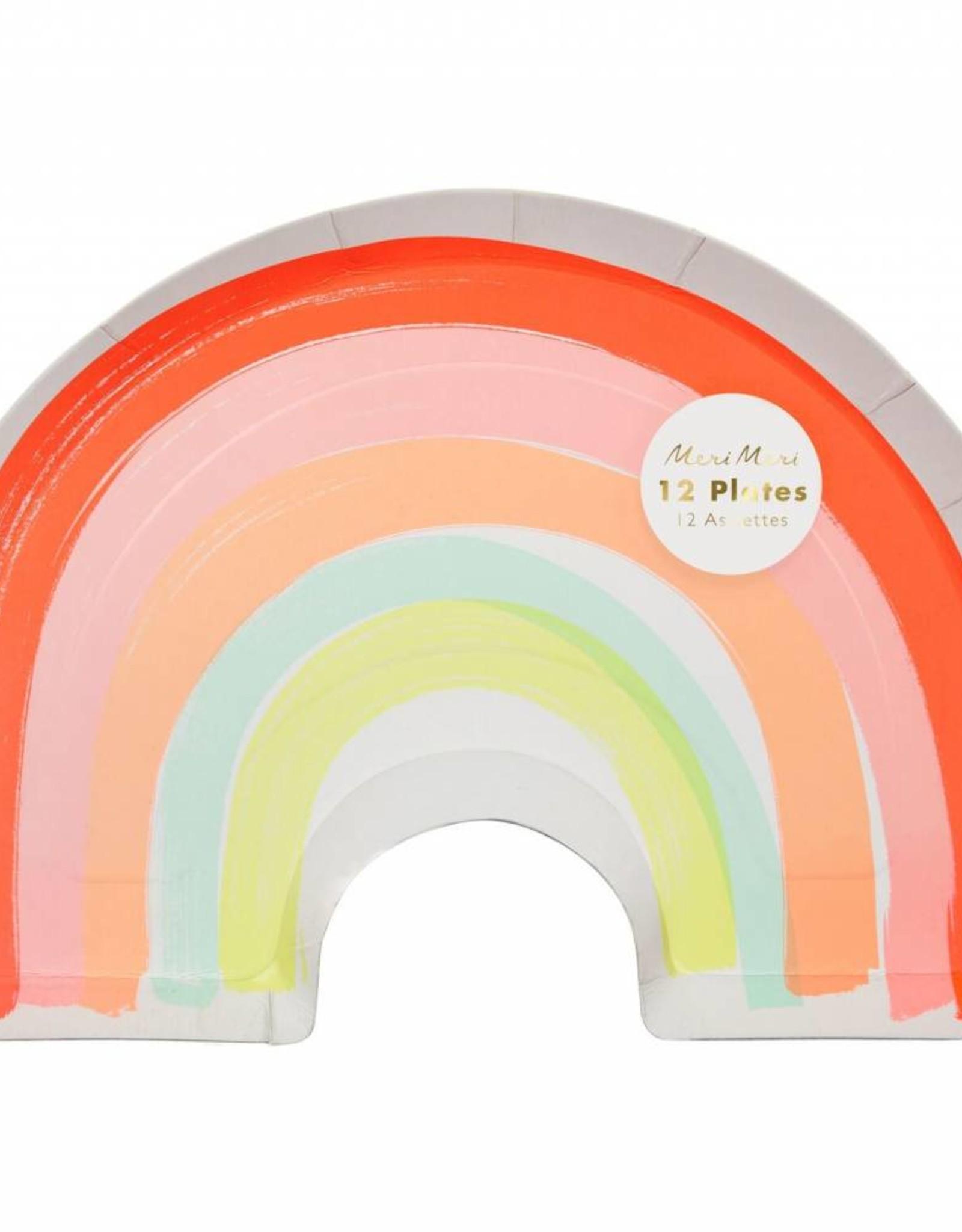 Meri Meri rainbow plates large