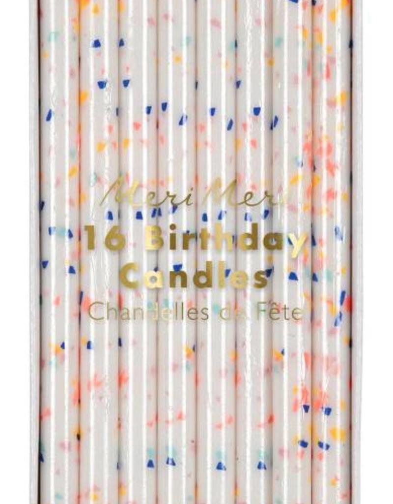 Meri Meri multi flecks birthday candles