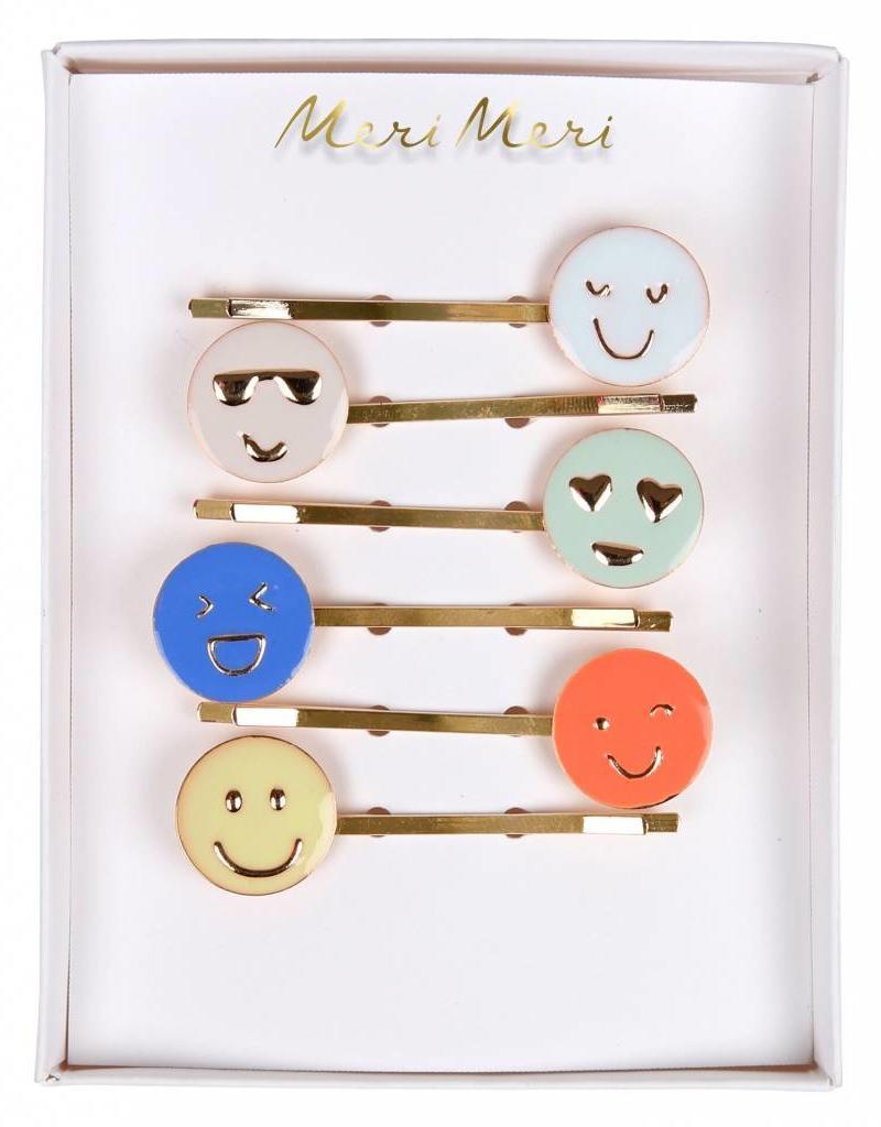 Meri Meri emoji enamel hairclips