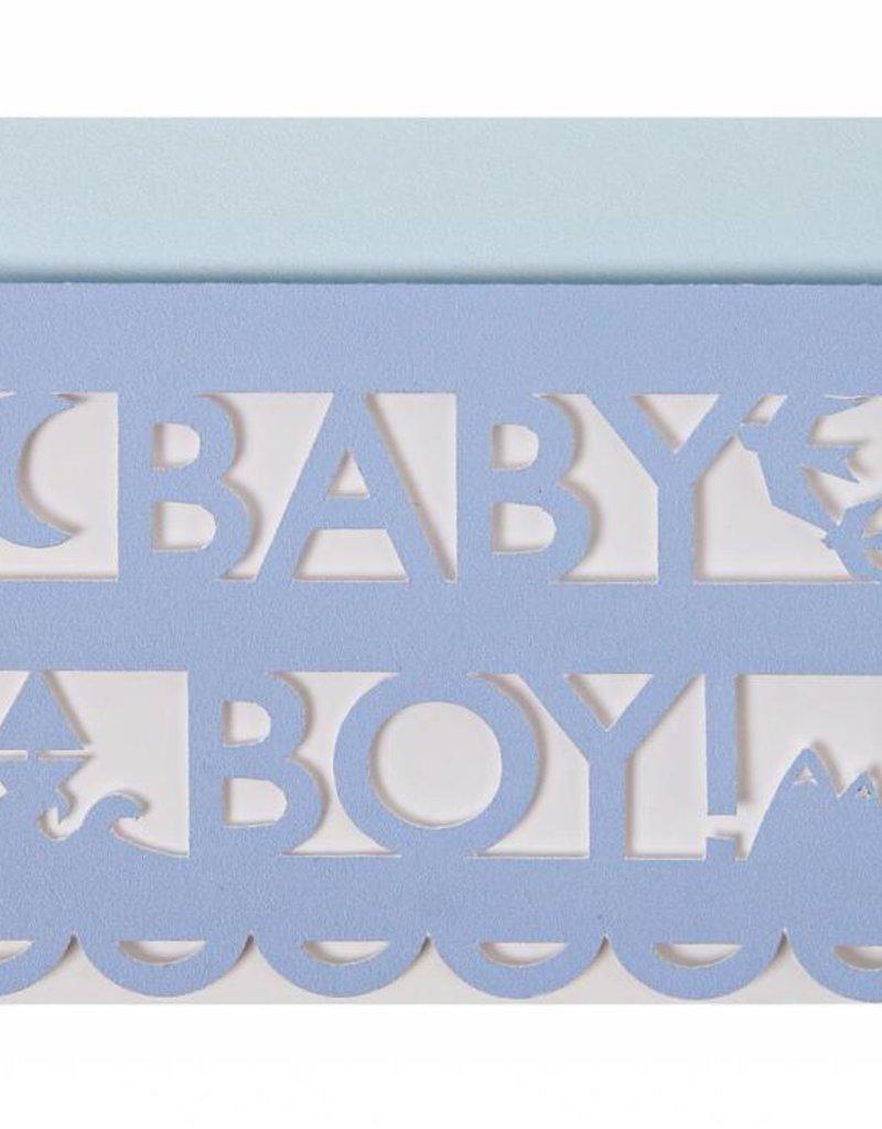 Meri Meri baby boy cut out card