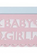 Meri Meri baby girl cut out card