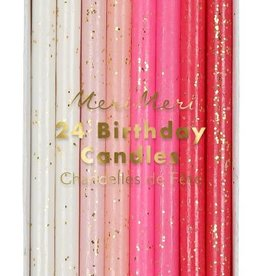 Meri Meri pink flecked birthday candles