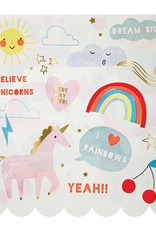 Meri Meri i believe in unicorns napkins large