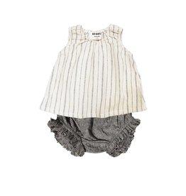 Go Gently Nation woven stripe baby set- natural hemp