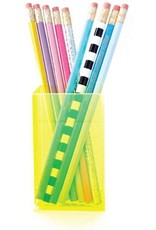 Taylor Elliott Designs acrylic pencil cup- neon green