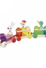 Janod zigolos- giant multi-color train