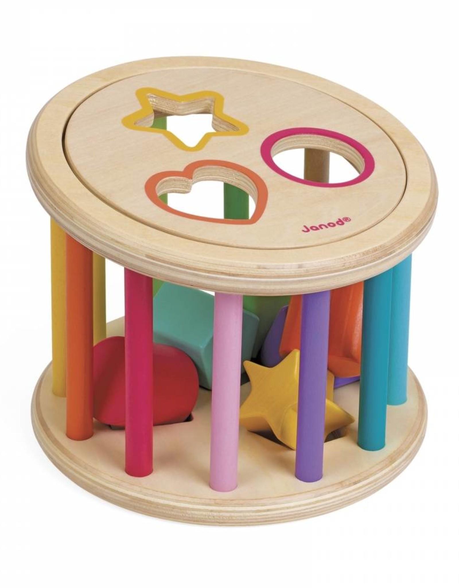 Janod shape sorter drum