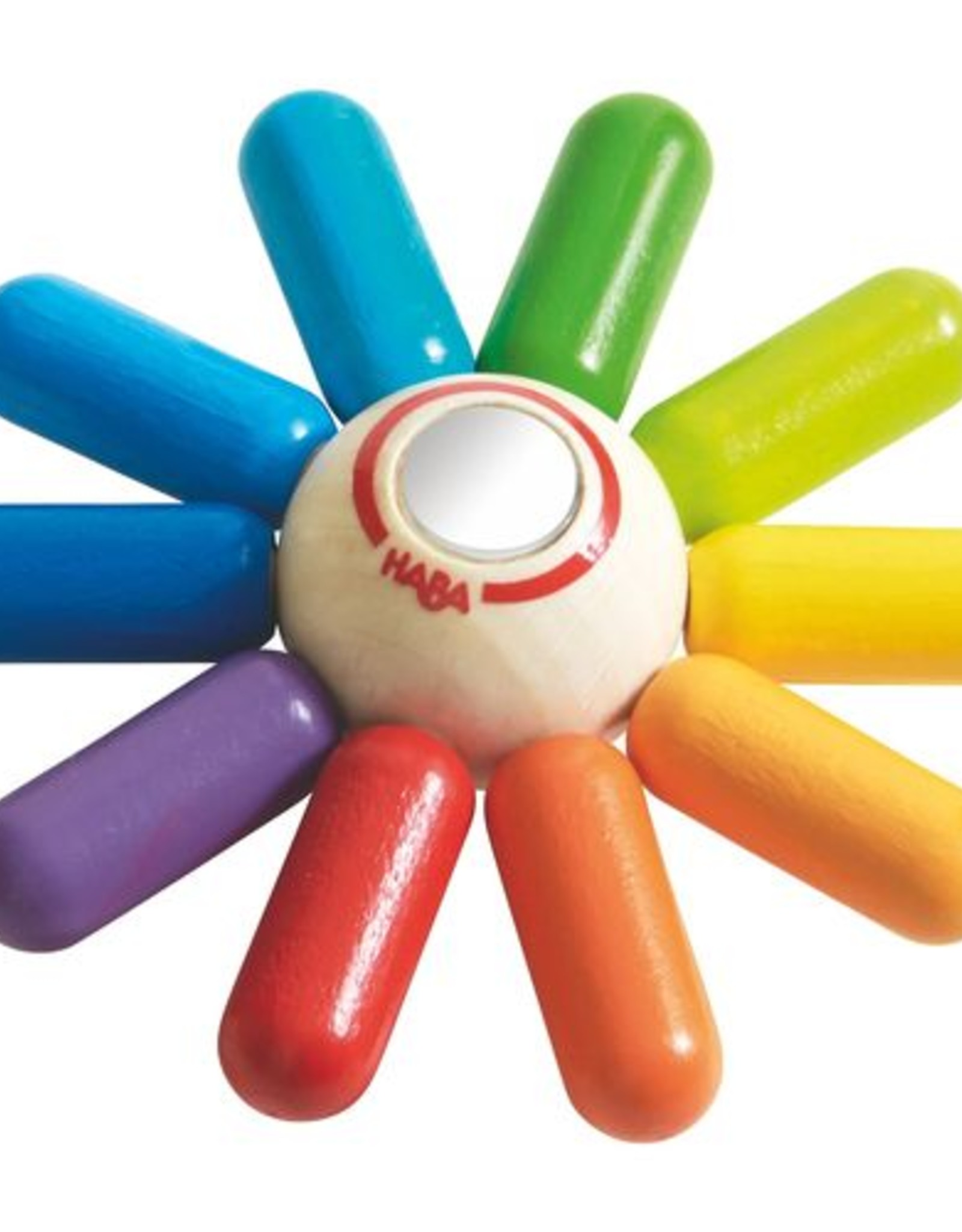 Haba rainbow sun clutching toy