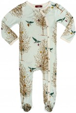 Milkbarn footed romper christmas birds