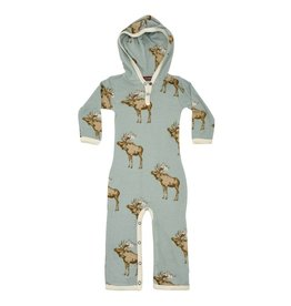 Milkbarn hooded romper blue moose
