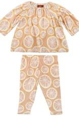 Milkbarn LS dress set grapefruits