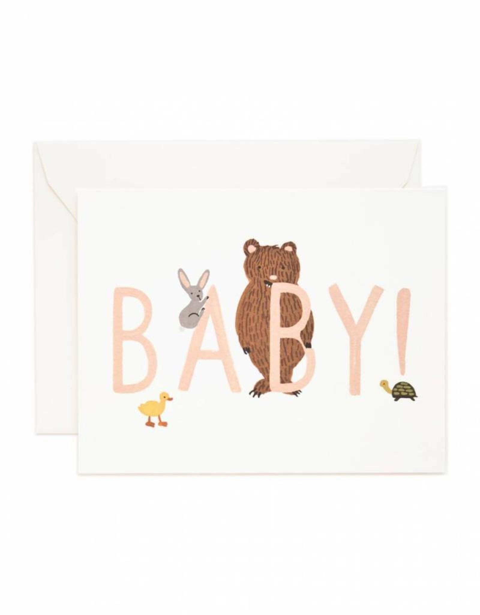 Rifle Paper Co. baby peach card