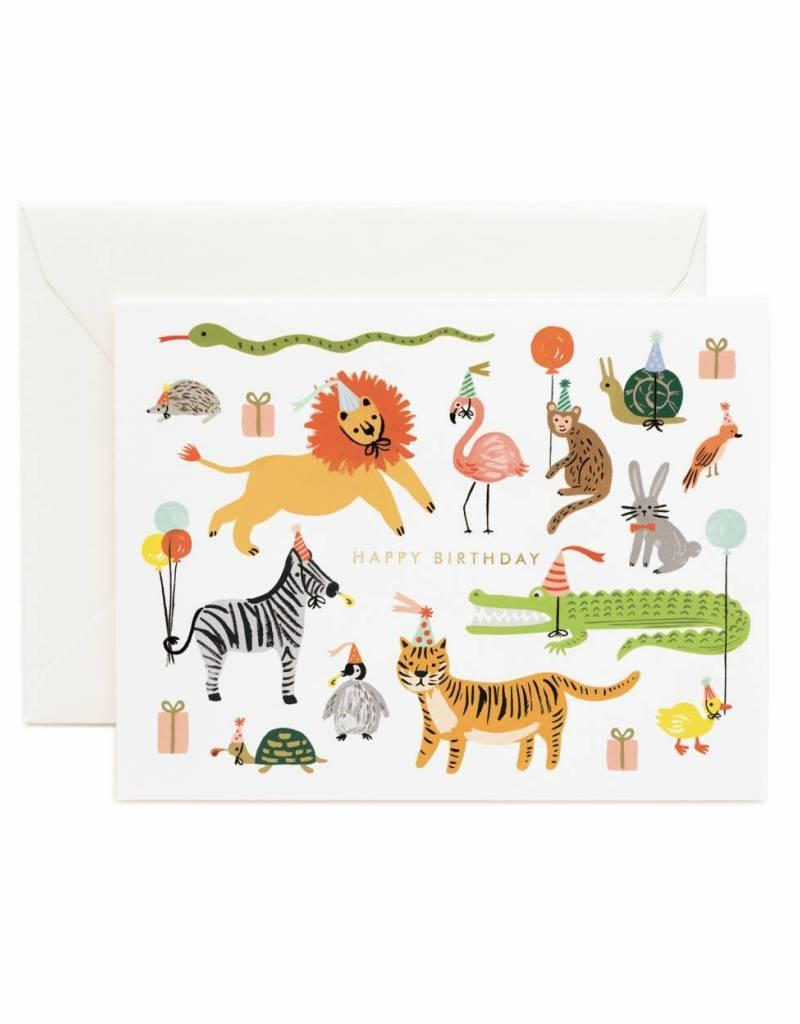 Rifle Paper Co. animal party birthday card