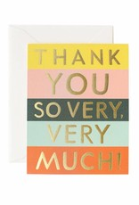 Rifle Paper Co. color block thank you card