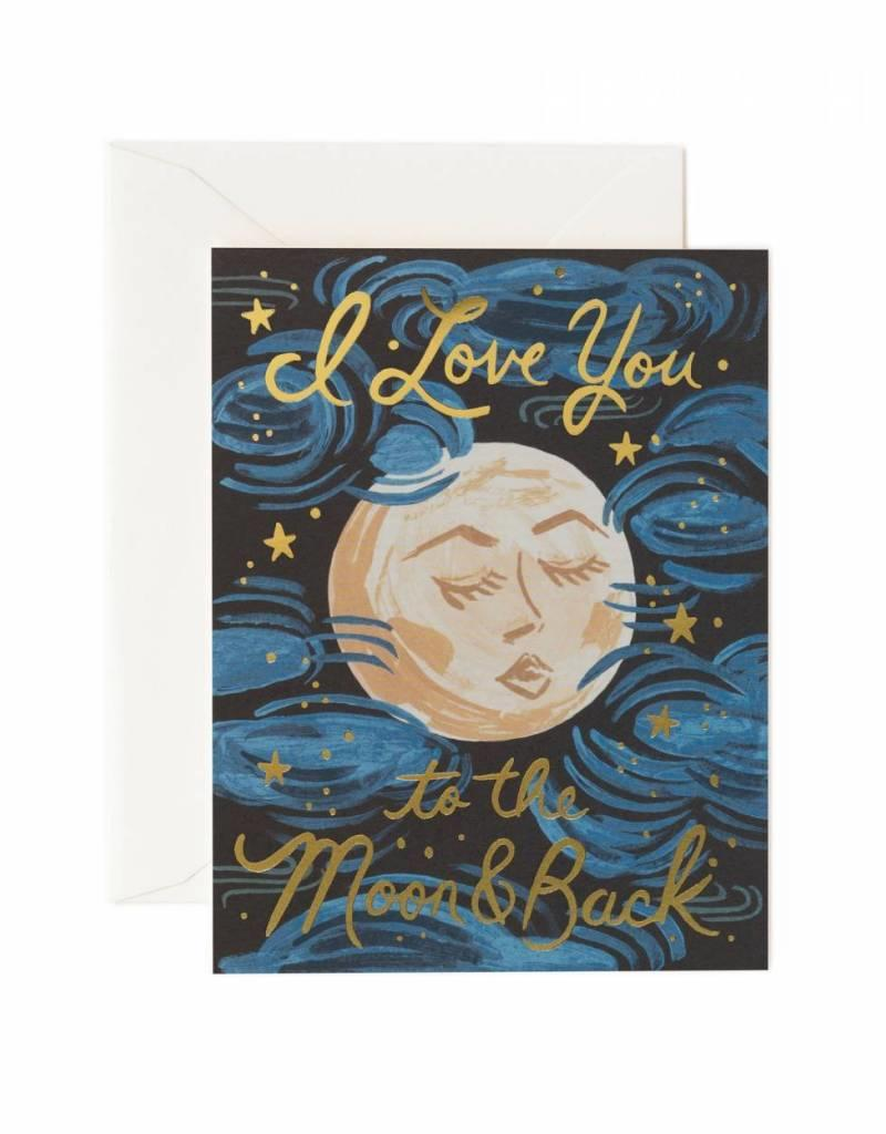 Rifle Paper Co. love you to the moon and back card