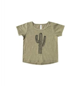 Rylee and Cru baby cactus basic tee- olive
