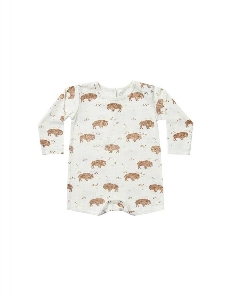 Rylee and Cru buffalo dash romper- ivory