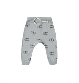 Rylee and Cru owls sweatpant- washed denim