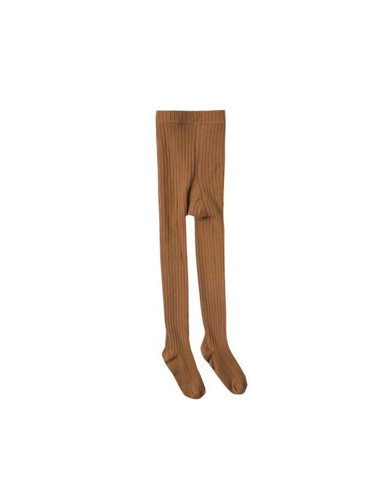 Rylee and Cru baby solid ribbed tights- saddle