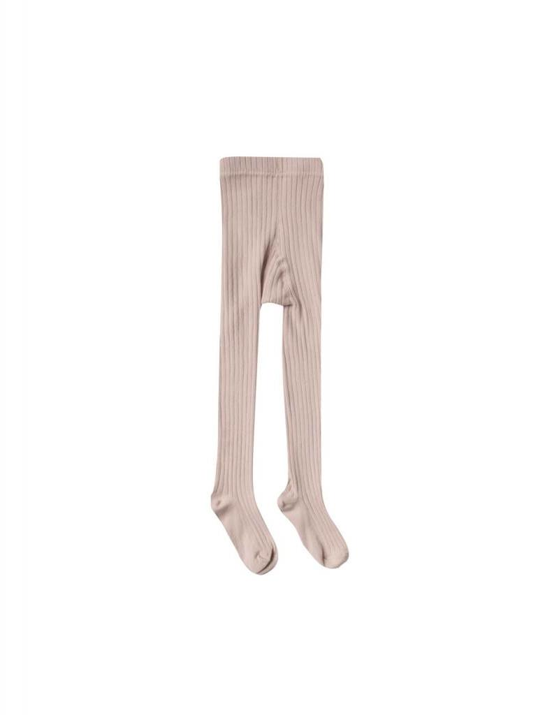 Rylee and Cru baby solid ribbed tights- petal
