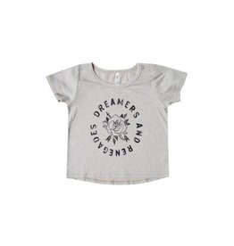 Rylee and Cru rose and arrows basic tee- dove