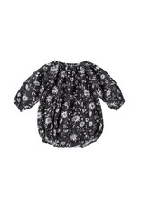 Rylee and Cru baby floral long sleeve bubble romper- midnight