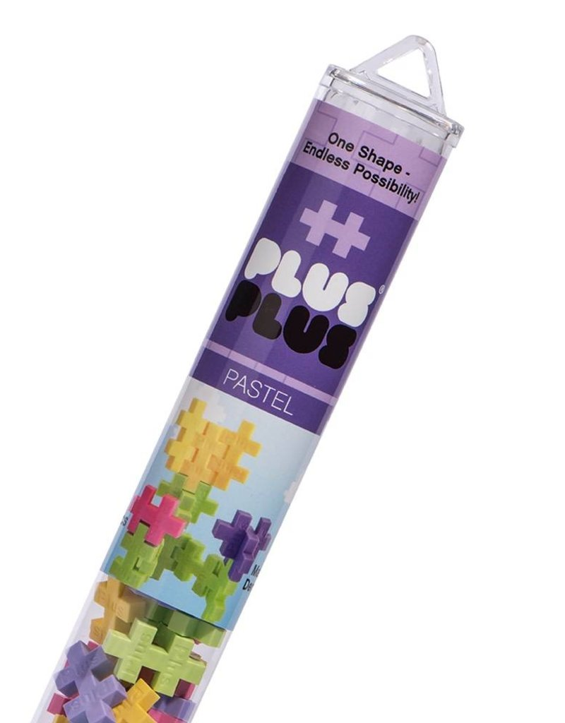 Plus Plus open play pastel mix tube