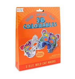 OOLY 3D colorables- wild cat mask