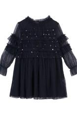 Velveteen Luna- blackcurrant star dress