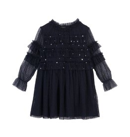 Velveteen Luna- blackcurrant star dress