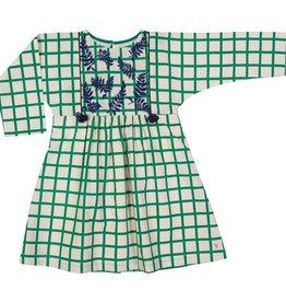 Pink Chicken bette dress- green check