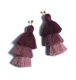 Shiraleah aria earrings- wine