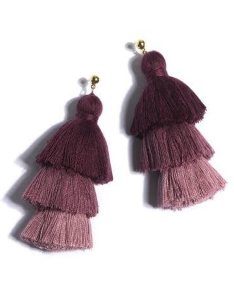 Shiraleah aria earrings- wine
