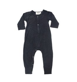 Go Gently Nation solid romper- black