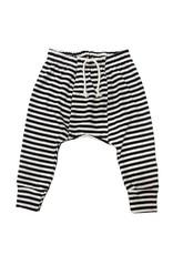 Go Gently Nation jersey harem pants- navy stripe